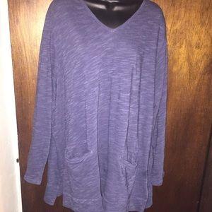 Plus size sweater blouse
